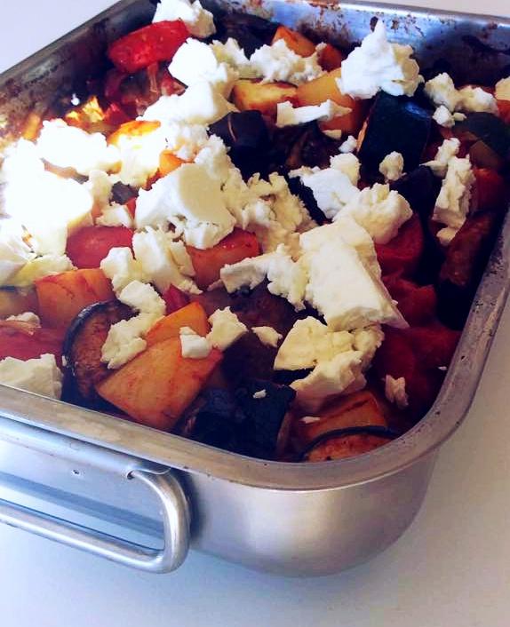 Griekenland | Briam, Griekse groenteschotel met feta