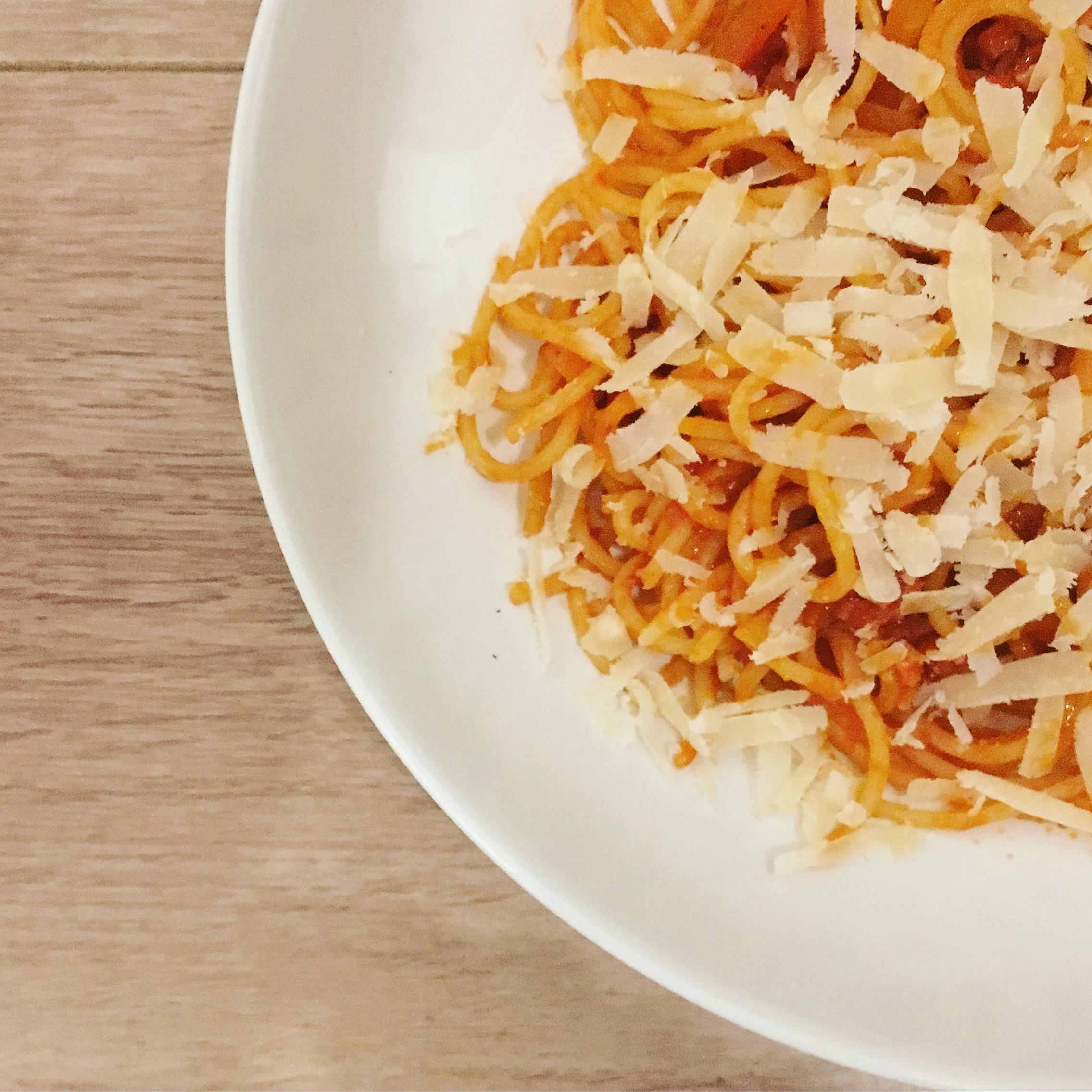 Italië Spaghetti all' amatriciana