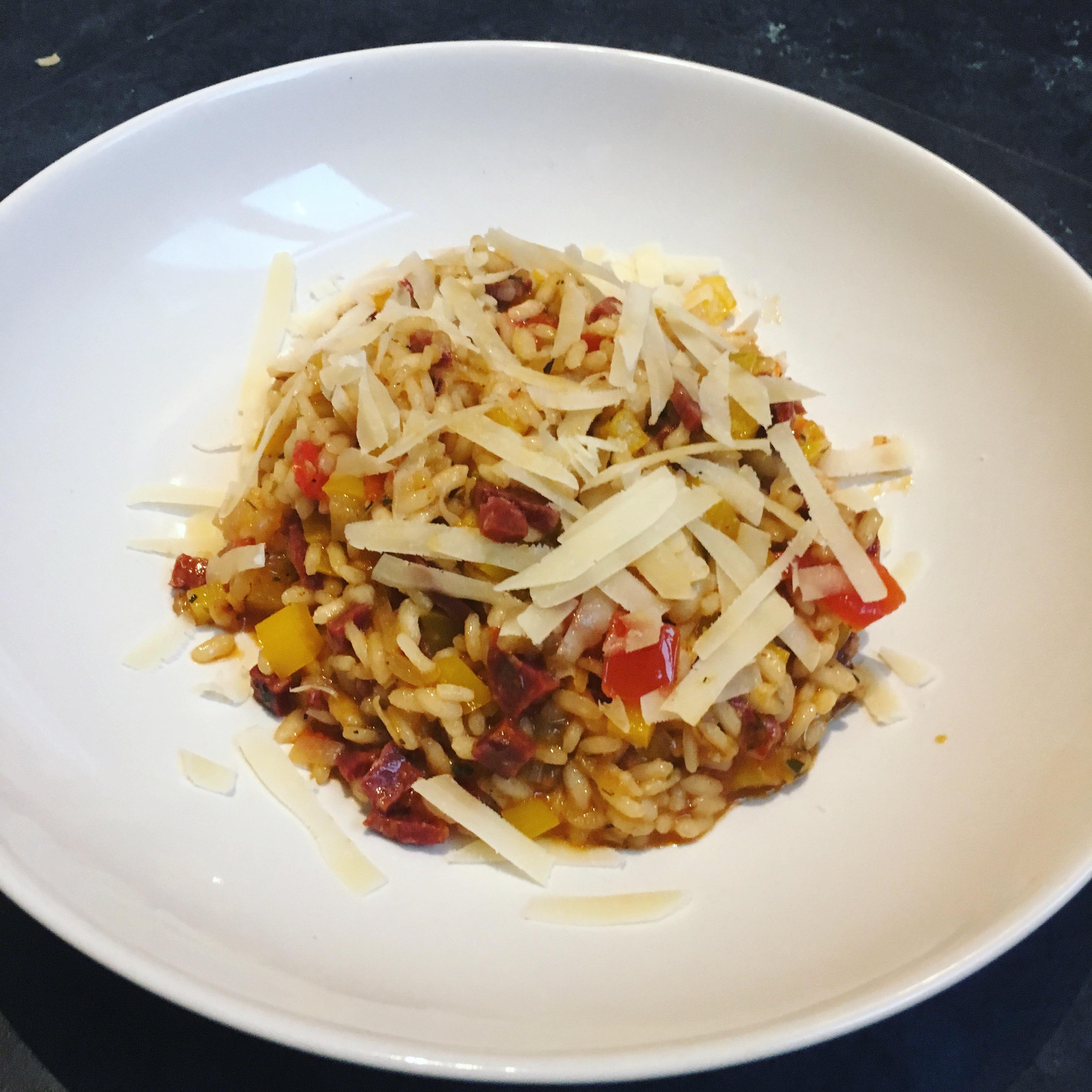 Spaanse risotto met chorizo