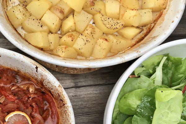 Griekse oven patatjes met look en citroen